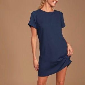 Lulus Shift & Shout Navy Blue Mini Dress Size L